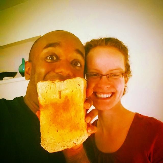 Toast selfie!  Telfie!  Selfoast!  #selfiegram #allthefilters
