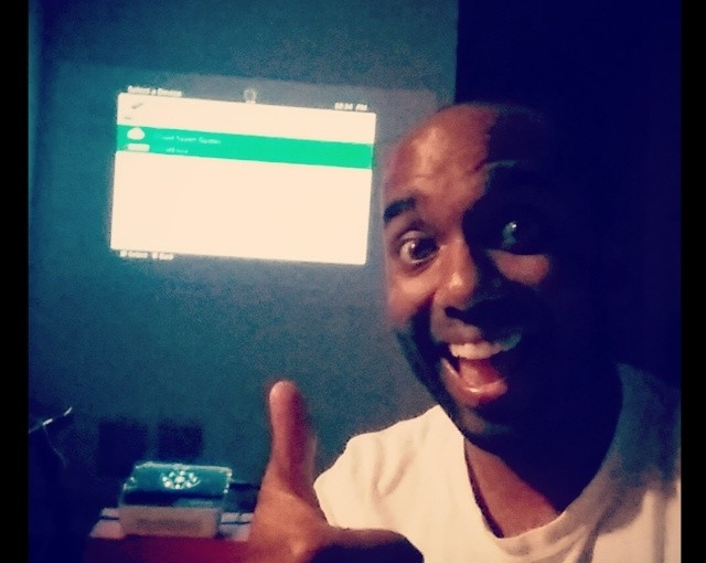 Basement-projector-gaming selfie!  Basprogamfie!  #selfiegram #allthefilters