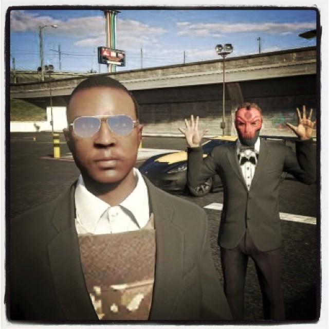 GTA online selfie!  Jazzhandsfie! #selfiegram #allthefilters