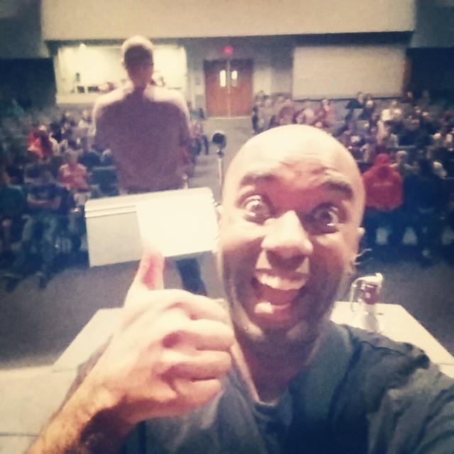 Got-to-rock-out-with-a-bunch-of-kids-last-night selfie! Gotroutwabunokilanelfie!  #selfiegram