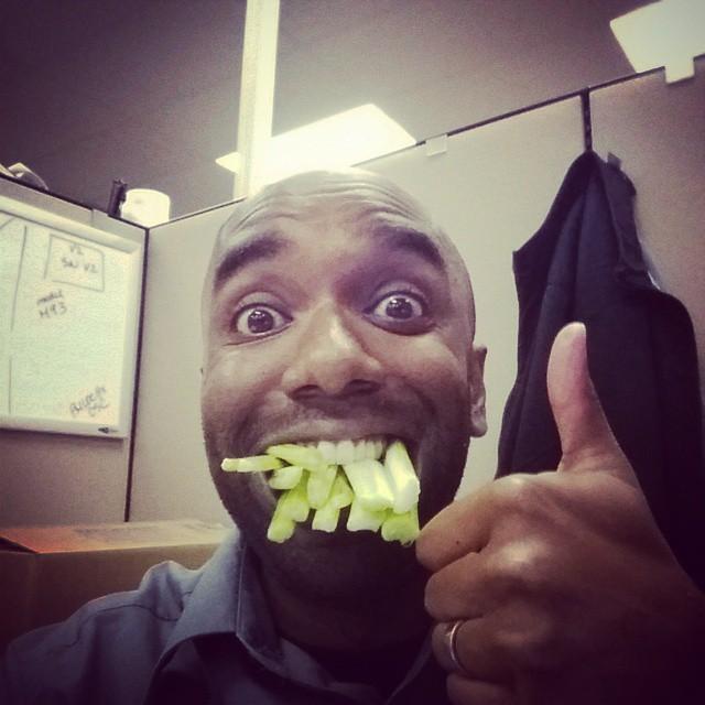 Celery selfie!  Celfie!  #selfiegram