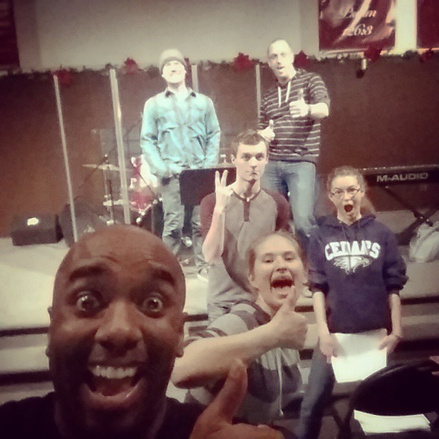 Just made some awesome music with these awesome people (and @derekthejoyce)! Awesomelfie! #selfiegram
