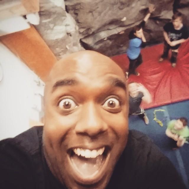 Rock climbing selfie!  Roclelfie! #selfiegram