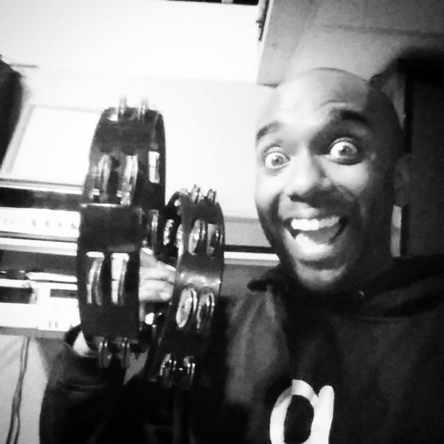 Double tambourine selfie!  Percusselfie!  #selfiegram #staytuned