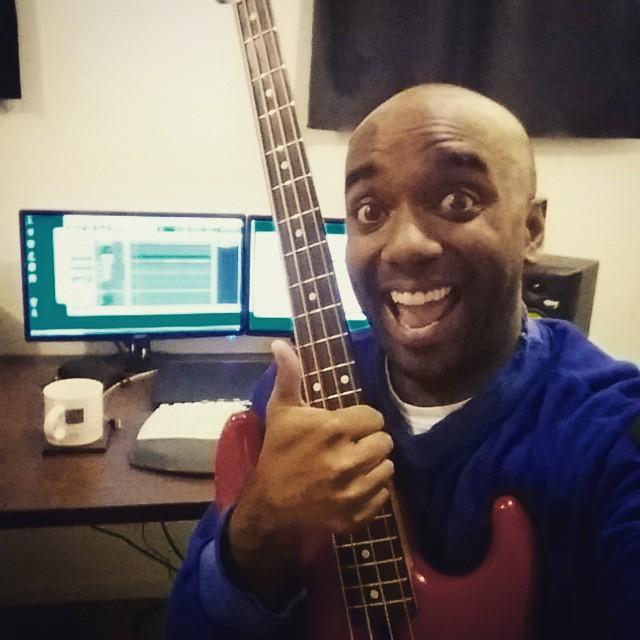 Bass track selfie!  Bastrelfie!  #selfiegram