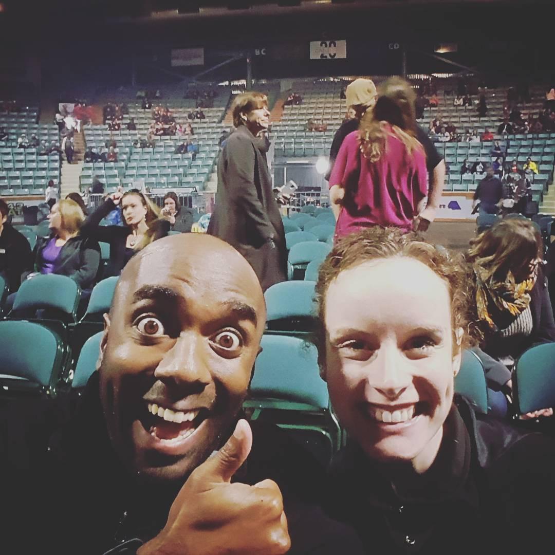 Front row seats selfie!  Froroselfie!  #selfiegram @barenakedladiesmusic