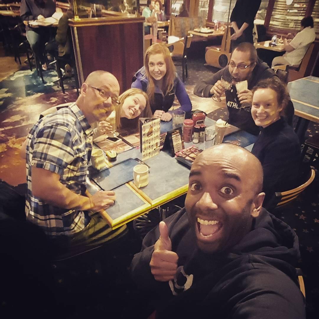 Album-dinner selfie!  Aldinelfie!  #selfiegram #thankstothesepeople