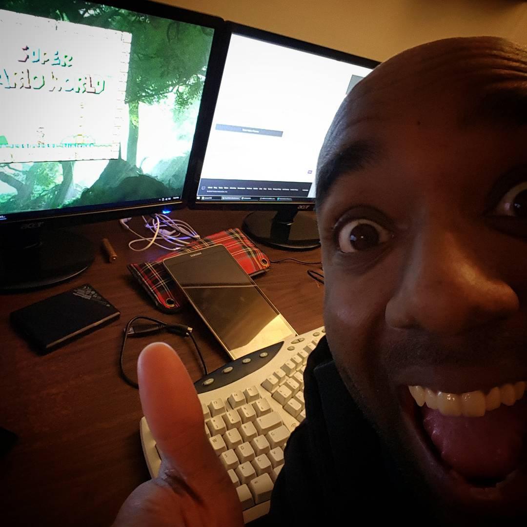 SUPER MARIO WORLD STREAM SELFIE!  Sumawortrelfie!  #selfiegram #twitch http://twitch.tv/paultgg