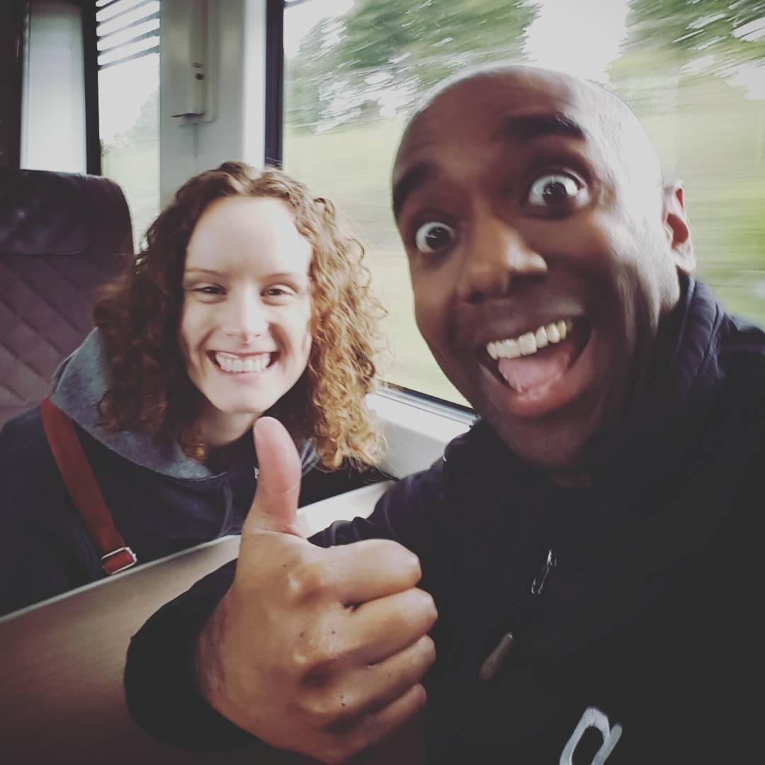 Heathrow Express selfie!  Heathexfie!  #selfiegram #jetlag