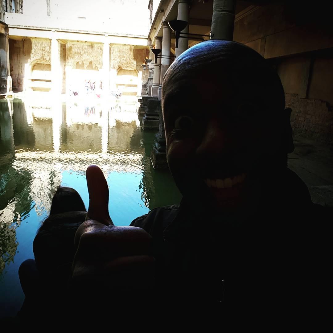 Roman baths selfie!  Rombelfie!  #selfiegram #oldstuff