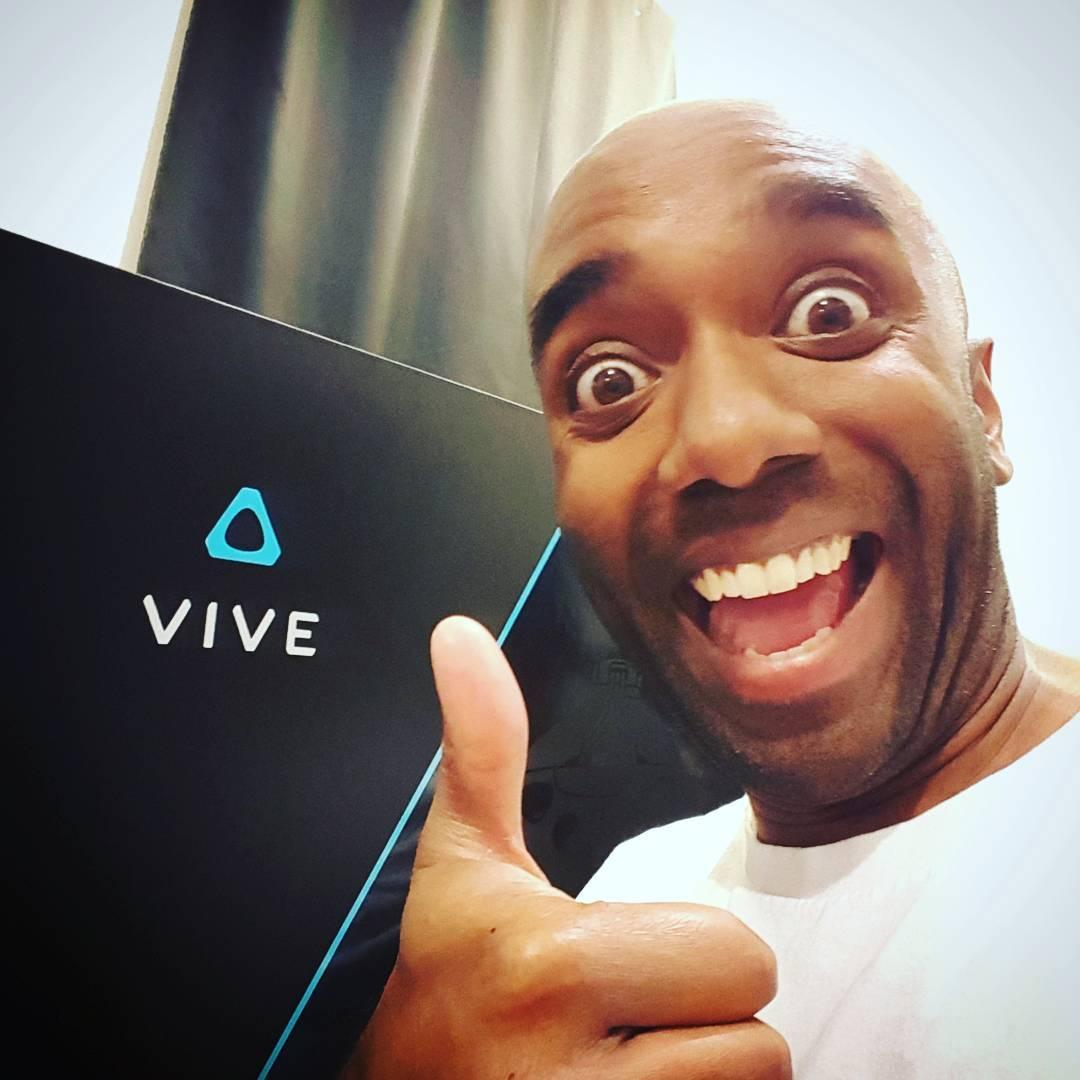 VR Headset selfie!  Vivelfie!  #selfiegram #htcvive #itstime