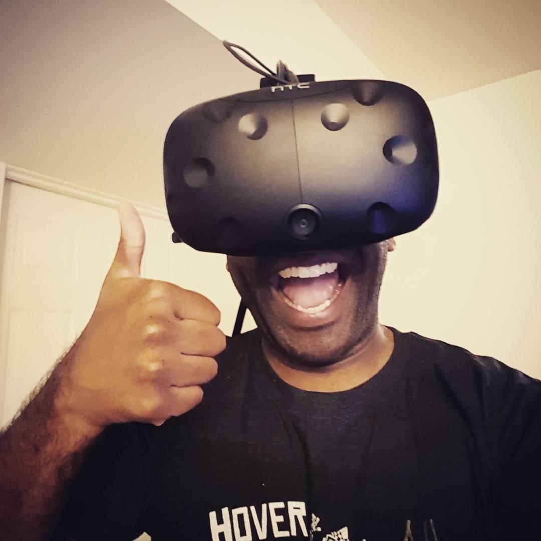 VR selfie!  Vivelfie!  #selfiegram #htcvive #hoverjunkers #twitch