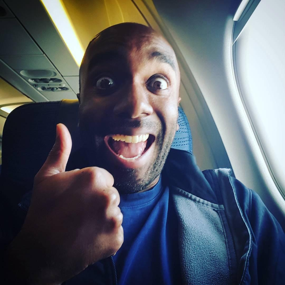 Inflight wifi selfie!  Inflielfie!  #selfiegram #thefuture