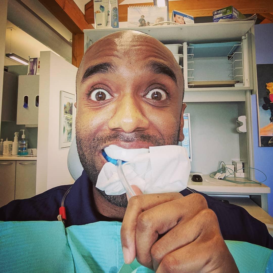 Dentist appointment selfie!  Dentapelfie!  #selfiegram #pearlywhites #drool #somuchdrool #seriouslyididntknowidrooledthatmuch